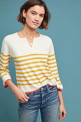 Slide View: 1: Faye Striped Sweater