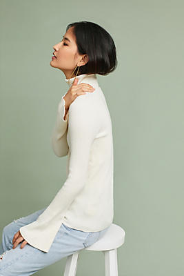 Slide View: 1: Knit Turtleneck Pullover