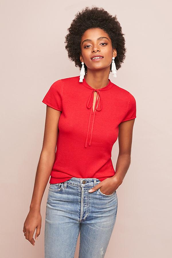 Regina Cut-out Top - Red, Size S