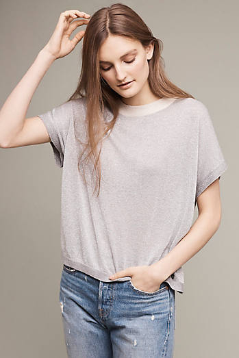 Shimmered Knit Tee