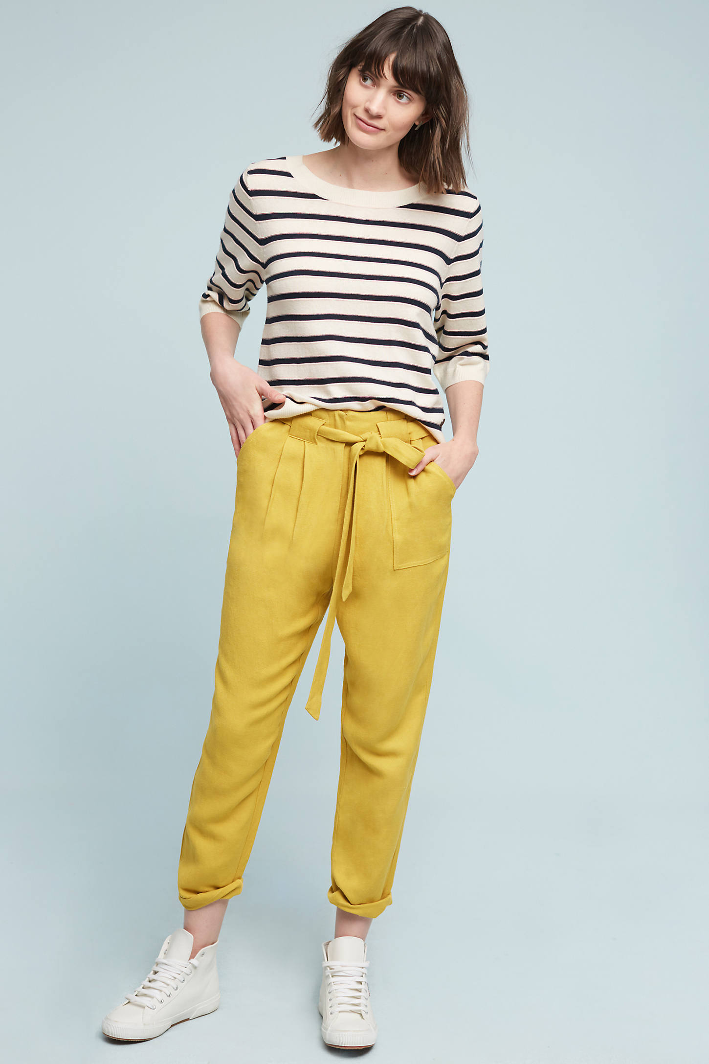 Zipped Stripes Pullover