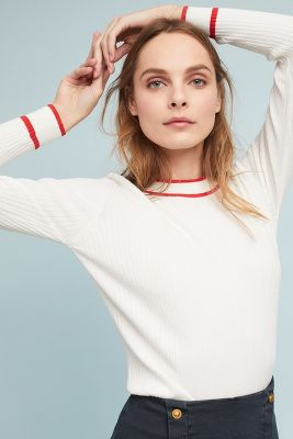 Just Female   Ebba Trimmed Pullover  -    IVORY
