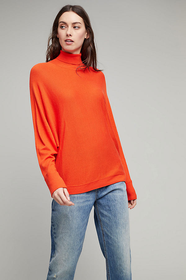 Ksena High Neck Jumper - Orange, Size S