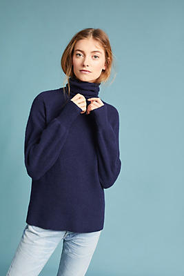 Slide View: 1: Phoebe Balloon-Sleeve Turtleneck