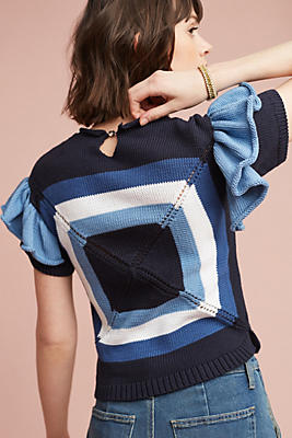 Slide View: 1: Delphine Cropped Pullover