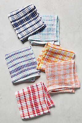 Slide View: 1: Fleurette Dishcloth Set