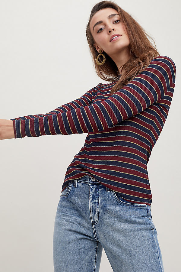 Striped Glitter Jumper - Blue, Size S