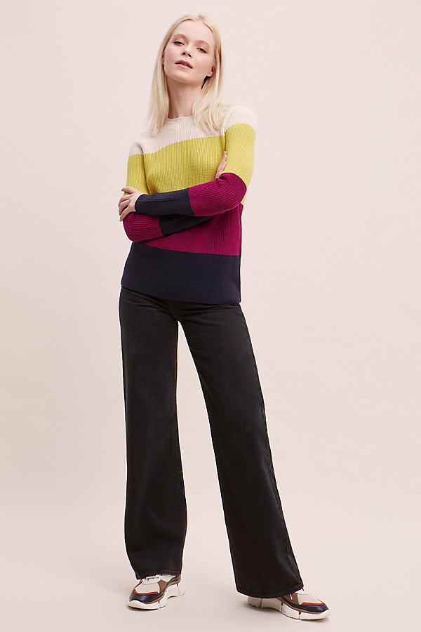 Colourblocked Merino-Wool Jumper