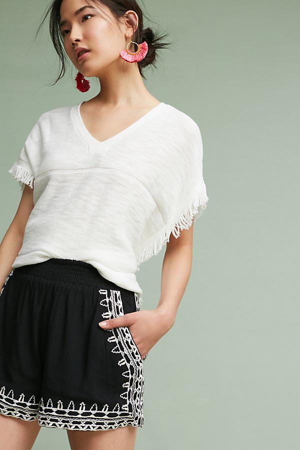 Mirella V-Neck Top, White - White, Size M