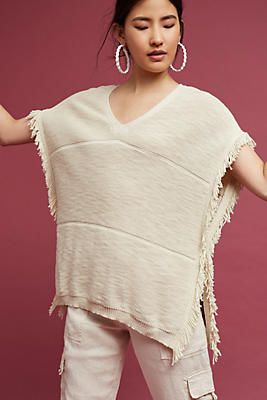 Slide View: 1: Mirella V-Neck Poncho