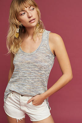Slide View: 1: Washed Scoop Neck Tank