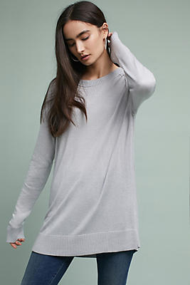 Slide View: 1: Michael Stars Buttoned Tunic Pullover