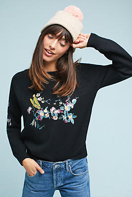 Slide View: 1: Sweetsong Embroidered Sweatshirt
