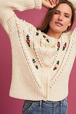 Slide View: 1: Mairead Embroidered Cardigan