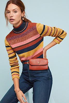 Slide View: 1: Frye Cropped Mock Neck Sweater