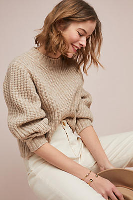 Slide View: 1: Frye Julie Mock Neck Sweater