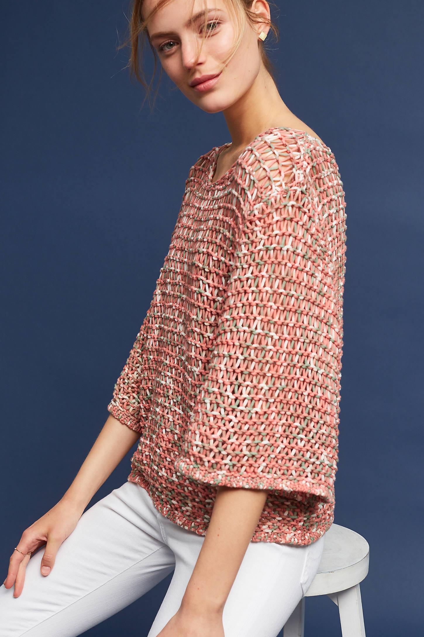 Salina Open-Stitch Pullover