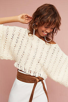 Slide View: 1: Knit Cropped Pullover
