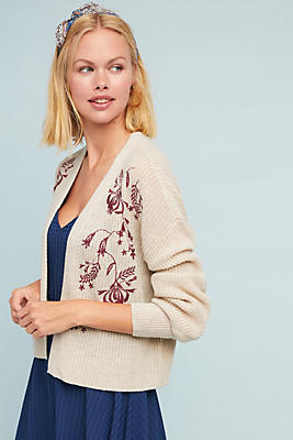 Slide View: 1: Fiore Embroidered Cardigan