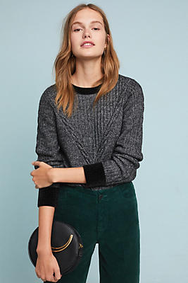 Slide View: 1: Solace Cable-Knit Sweater