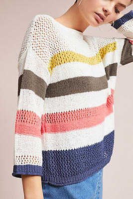 Slide View: 1: Portloe Striped Sweater