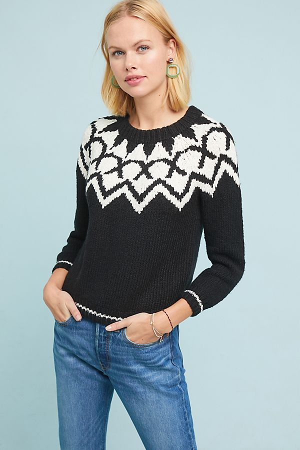 Robyn Fair Isle Pullover | Anthropologie