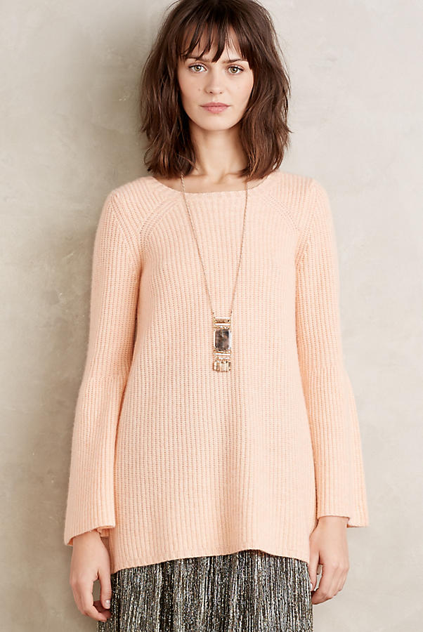Bell Sleeve Cashmere Tunic