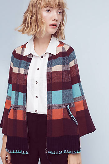 Plaid Sweater Jacket