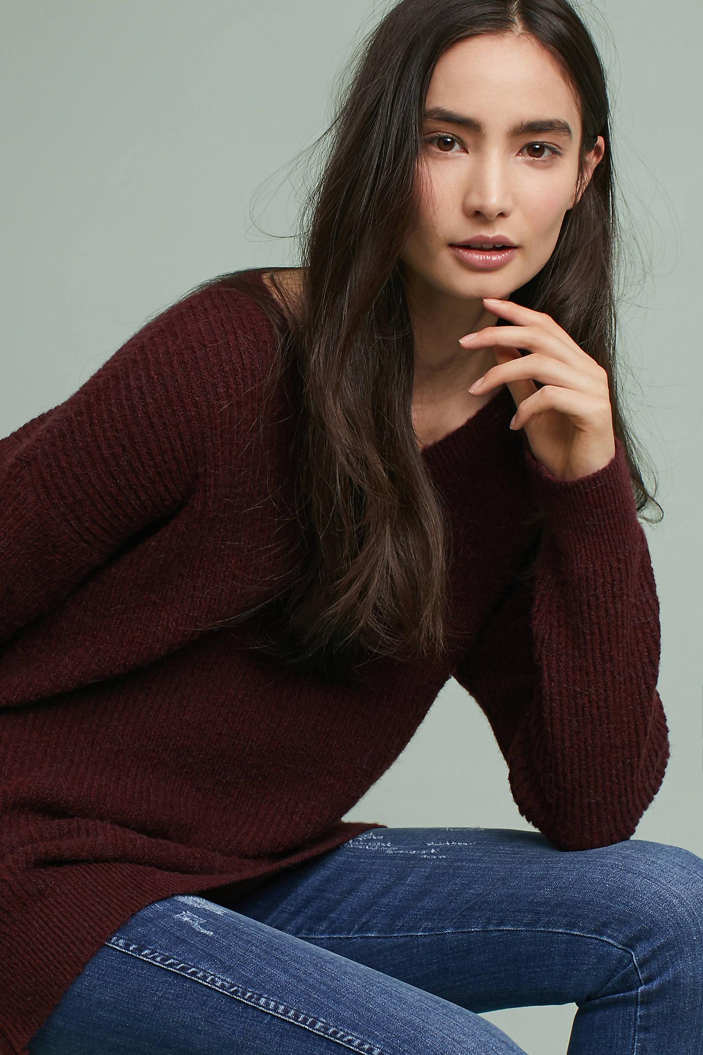 Chloe Ribbed Tunic Sweater