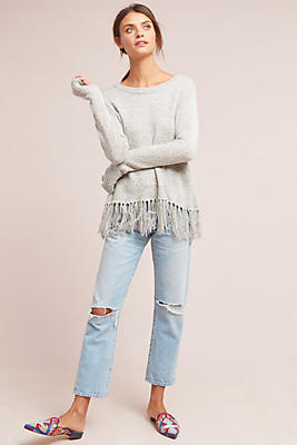 Slide View: 1: Grayson Fringed Pullover
