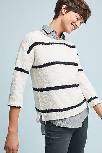 Striped Chenille Pullover