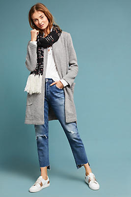 Slide View: 1: Wrapped Sweater Jacket
