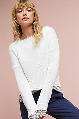 Slide View: 1: Starry Boatneck Pullover