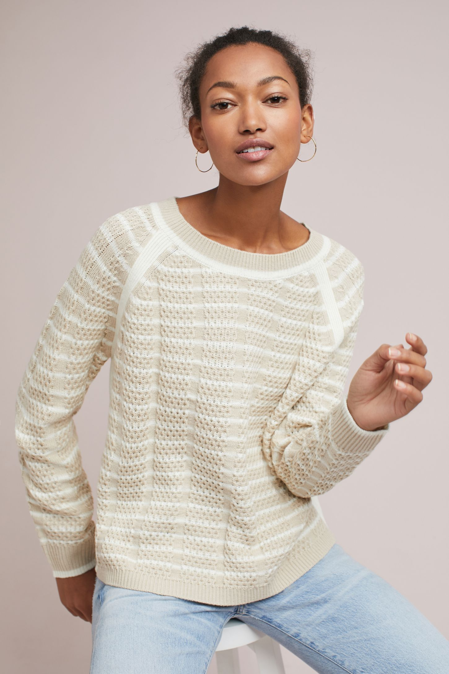 Nola Striped Pullover | Anthropologie