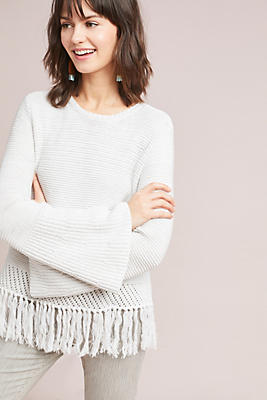 Slide View: 1: Sintra Fringed Pullover