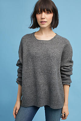 Slide View: 1: Oversized Scoop Neck Pullover