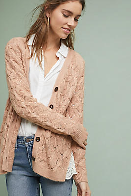 Slide View: 1: Andover Laced Cardigan