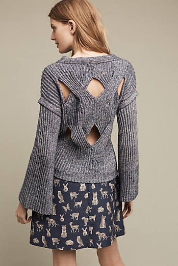Cutout Cable Sweater
