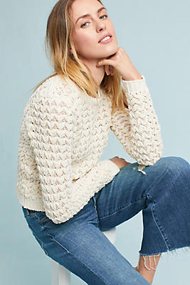 Slide View: 1: Twisted Chenille Pullover