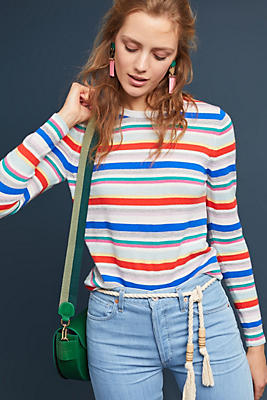 Slide View: 1: Kiara Striped Pullover
