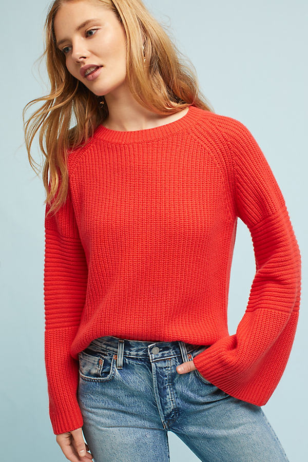 Camden Bell-Sleeved Jumper, Orange - Orange, Size Xs