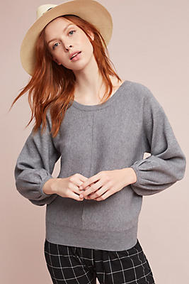 Slide View: 1: Balloon-Sleeved Pullover
