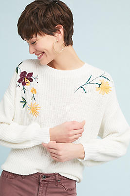 Slide View: 1: Falana Embroidered Pullover