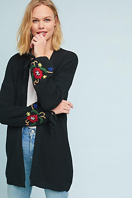 Slide View: 1: Carly Embroidered Cardigan