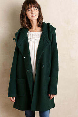 Boiled Wool Sweater Coat | Anthropologie