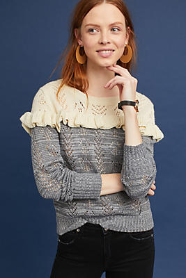 Slide View: 1: Jona Ruffled Pullover