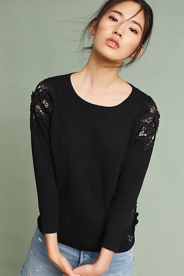 Doris Laced Jumper, Black - Black, Size Xl