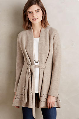 Embroidered Boiled Wool Sweater Coat Anthropologie