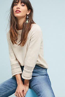Slide View: 1: Iris Pointelle Pullover