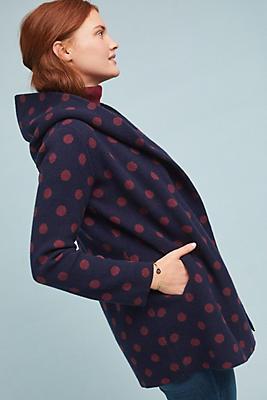 Slide View: 1: Polka Dot Sweater Coat